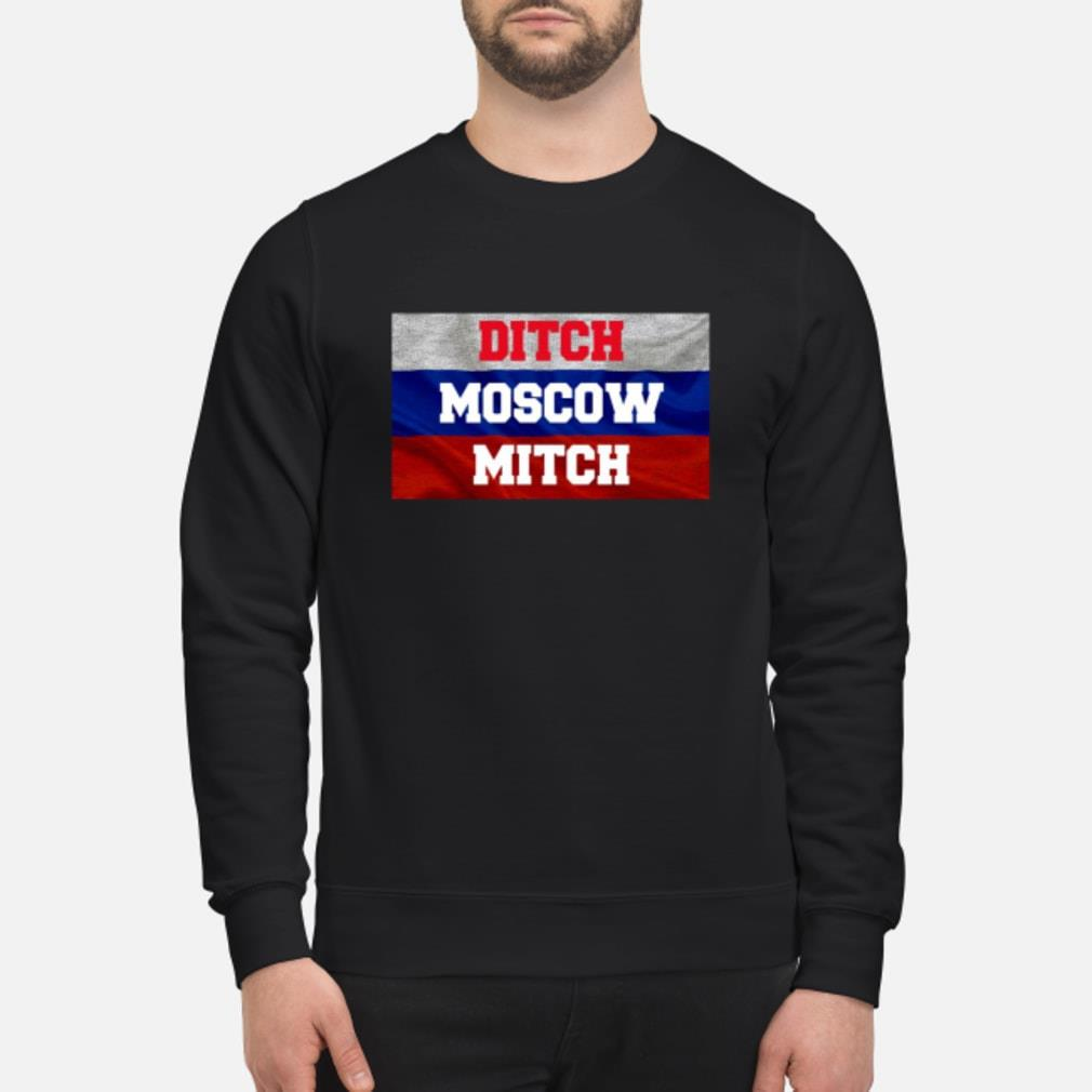 Ditch Moscow Mitch Shirt McConnell Russia Flag Tee Shirt sweater
