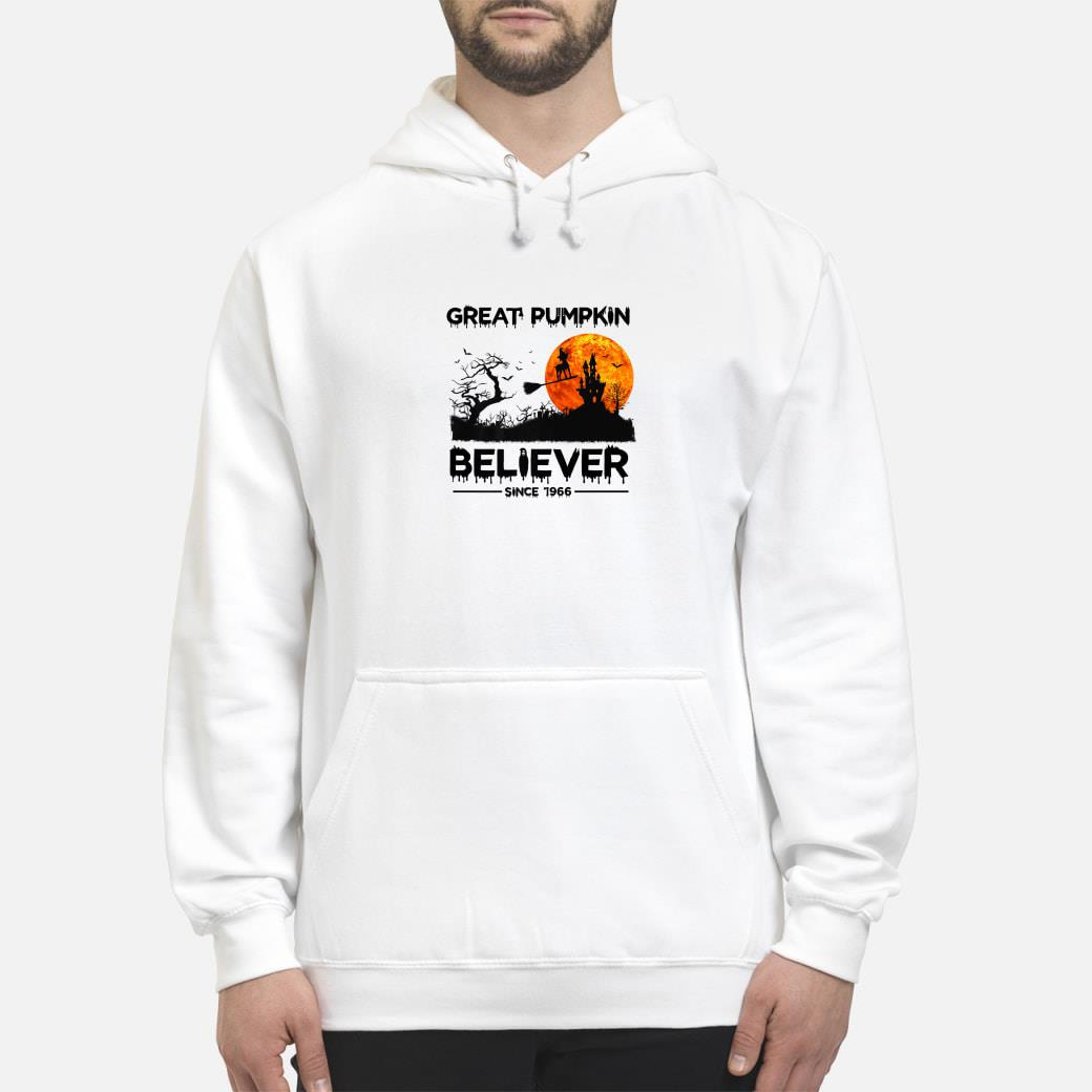 Great Pumpkin Believer Since 1966 Funny Dog Halloween Premium T-Shirt hoodie