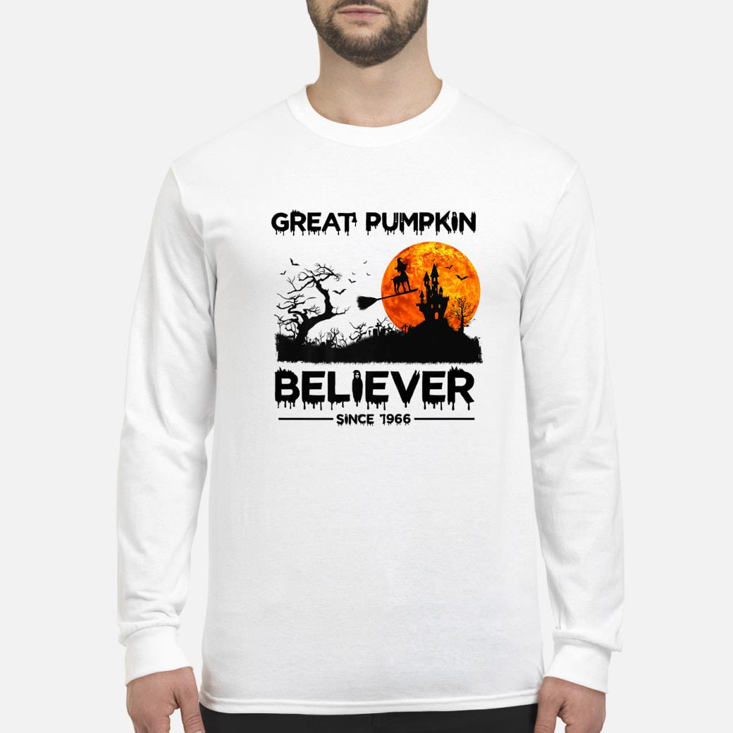 Great Pumpkin Believer Since 1966 Funny Dog Halloween Premium T-Shirt long sleeved