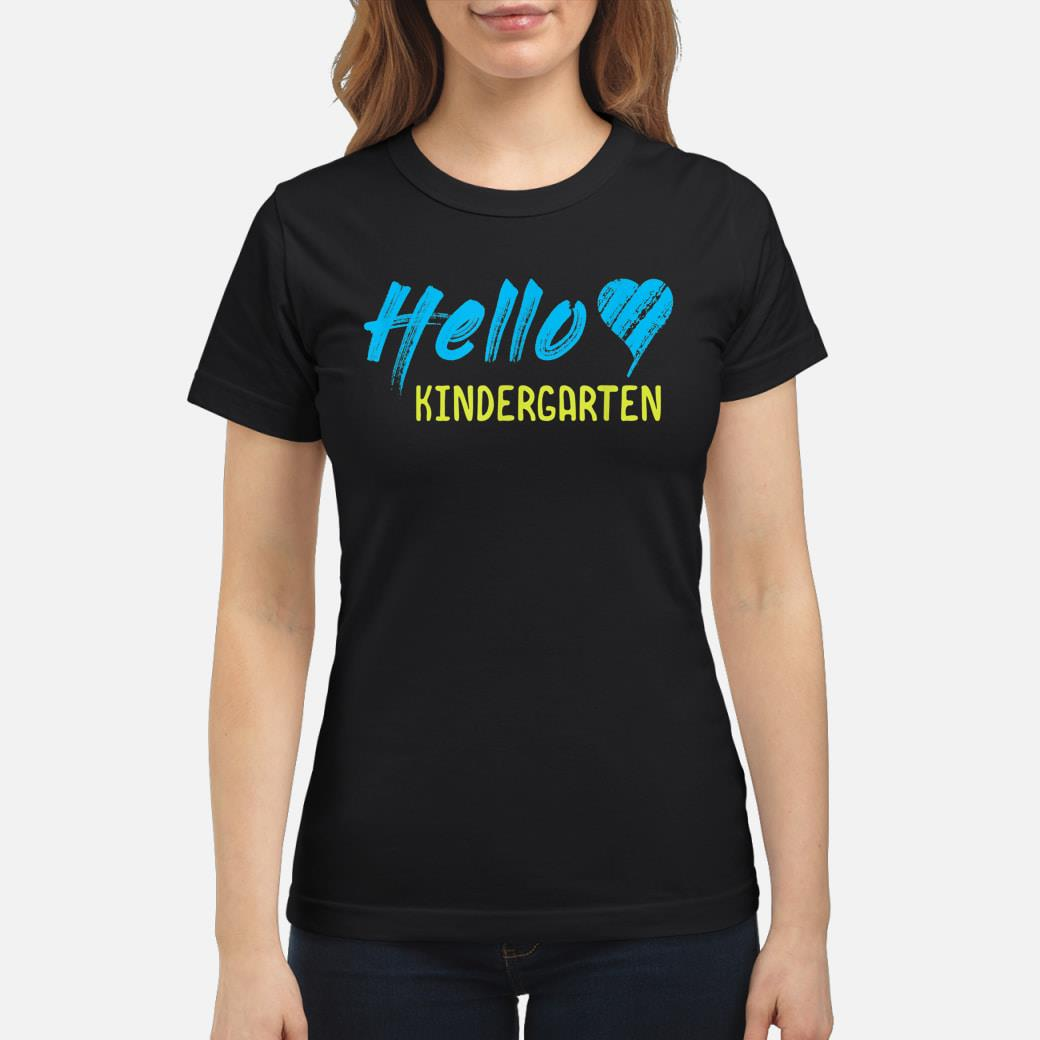 HELLO KINDERGARTEN shirt ladies tee