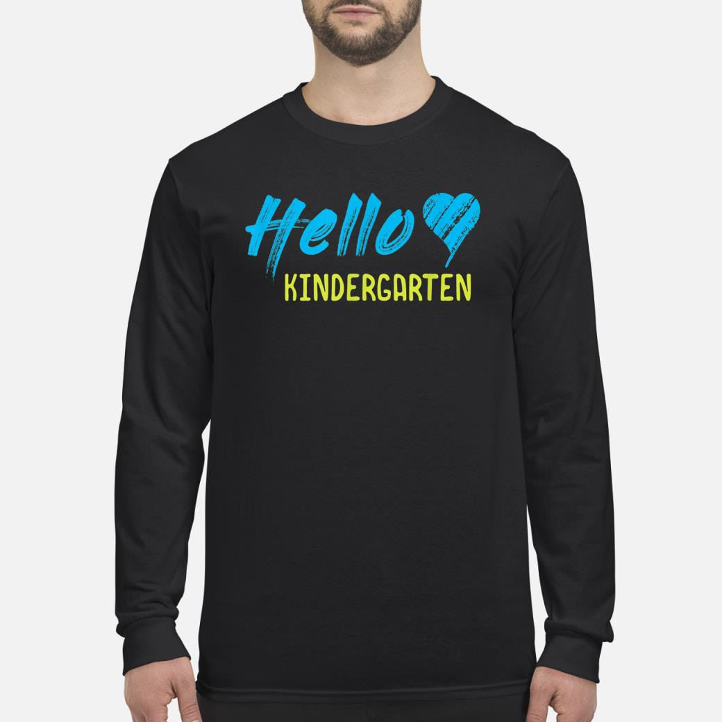 HELLO KINDERGARTEN shirt Long sleeved