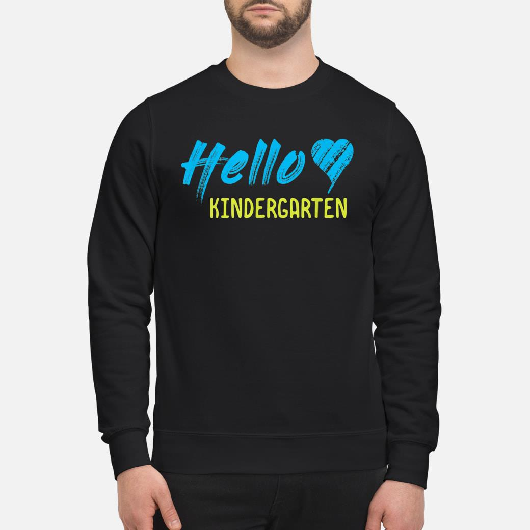 HELLO KINDERGARTEN shirt sweater