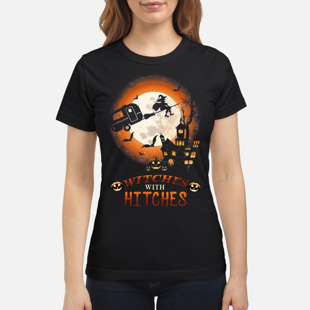 Halloween Witches With Hitches Shirt ladies tee