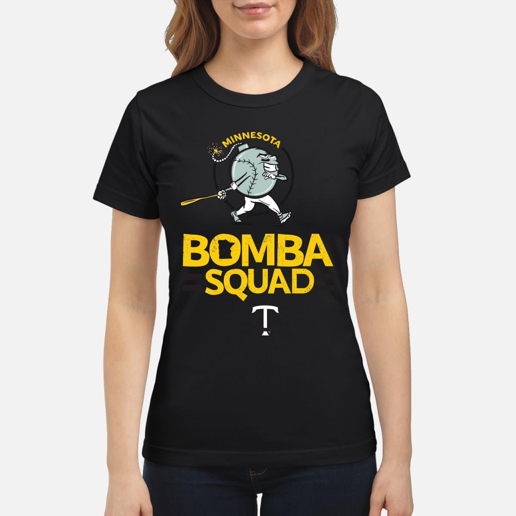 Minnesota bomba squad twins shirt ladies tee