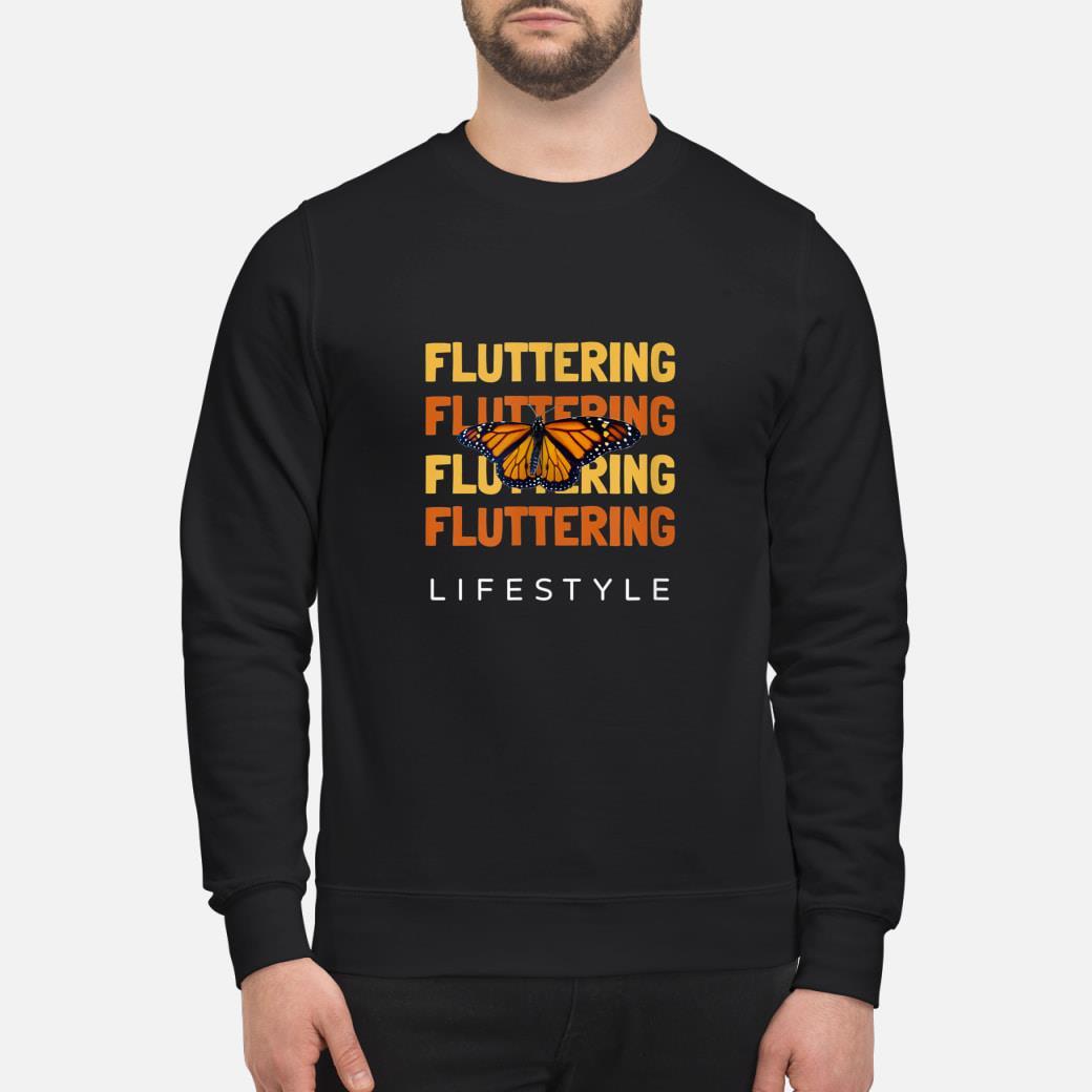 Monarch Butterfly  Fluttering shirt sweater