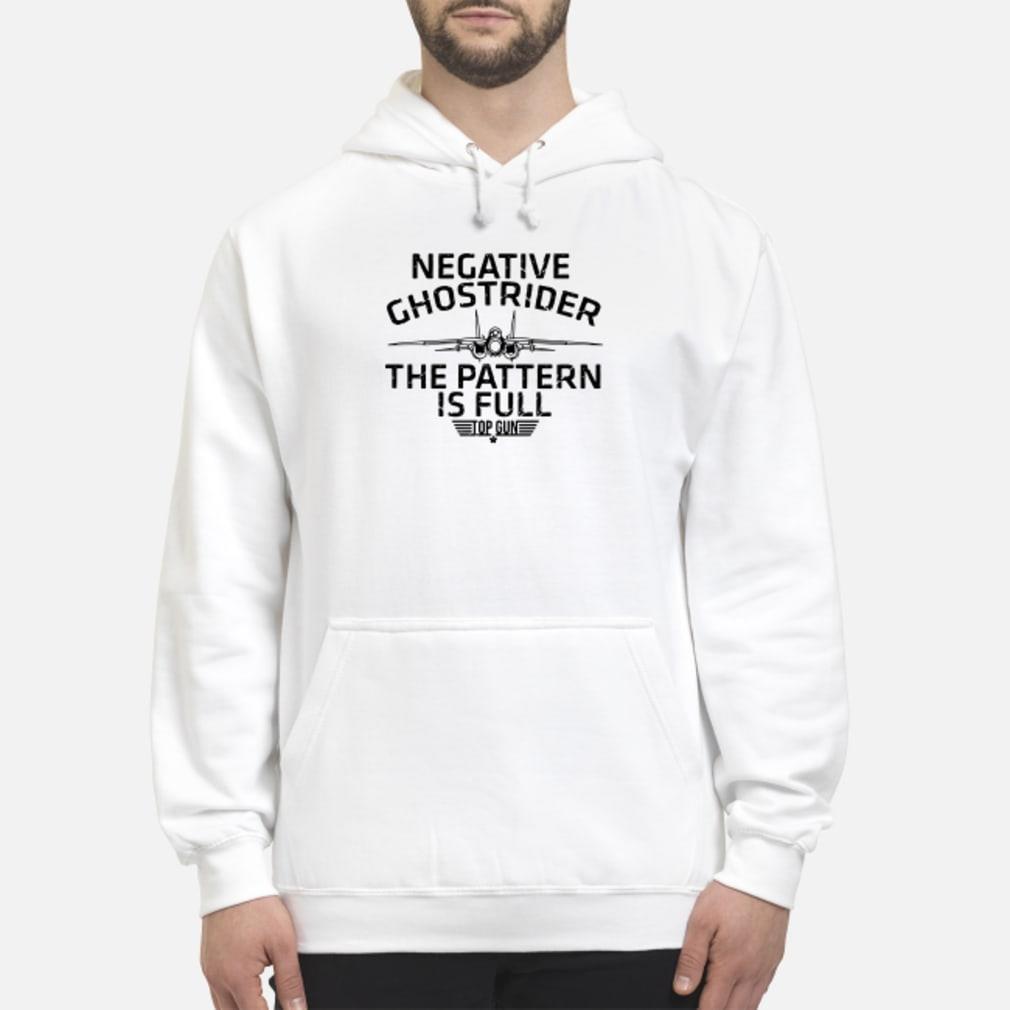 Negative the pattern is full top gun ladies shirt hoodie