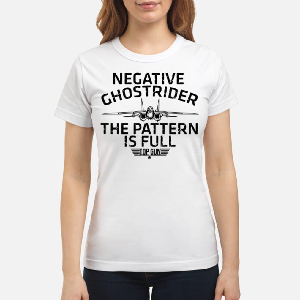 Negative the pattern is full top gun ladies shirt ladies tee