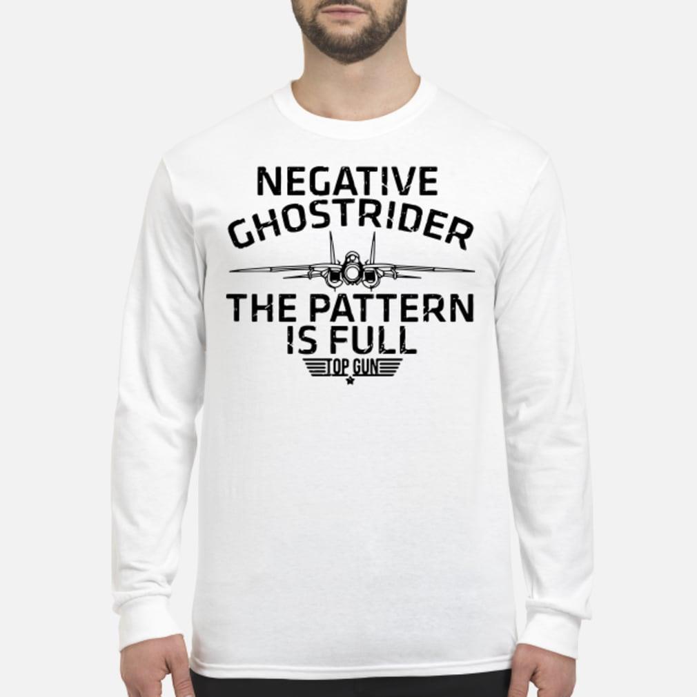Negative the pattern is full top gun ladies shirt Long sleeved