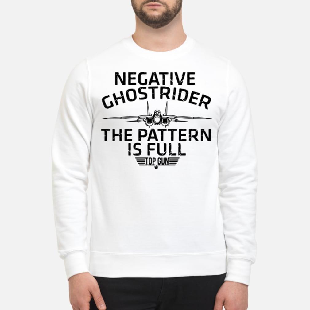 Negative the pattern is full top gun ladies shirt sweater