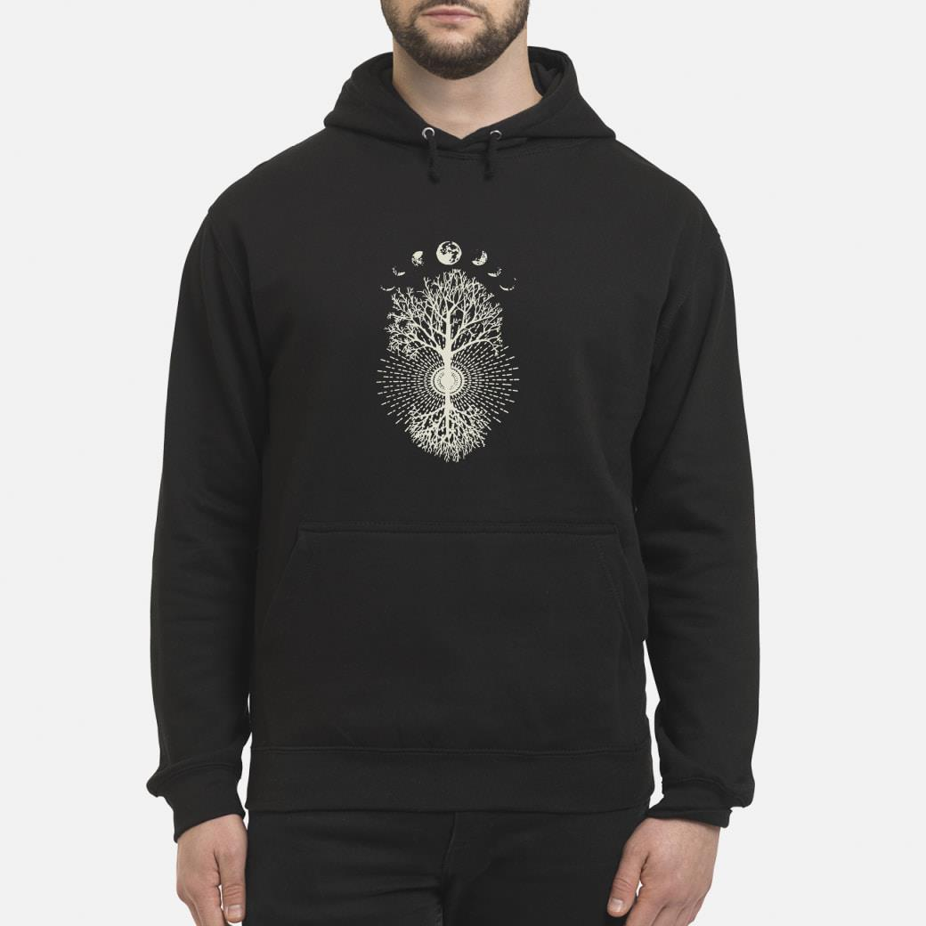 Phases of the Moon Tree shirt hoodie