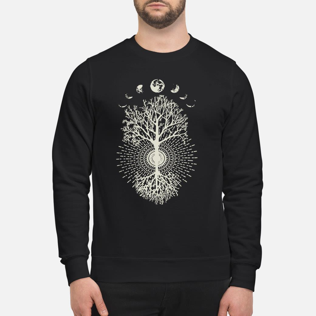 Phases of the Moon Tree shirt sweater