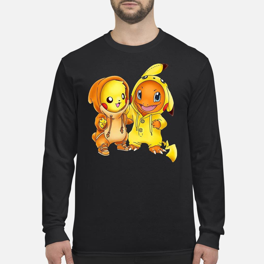 Pikachu and pikachu charmander pokemon shirt Long sleeved