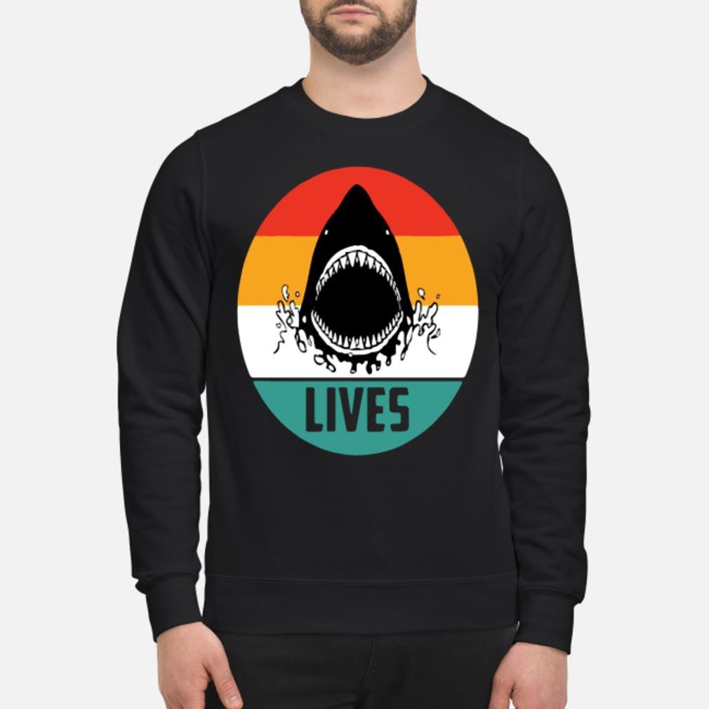 Retro shark lives vintage shirt sweater