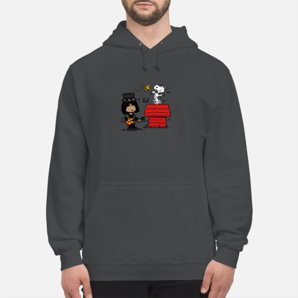 Slash and Snoopy shirt hoodie