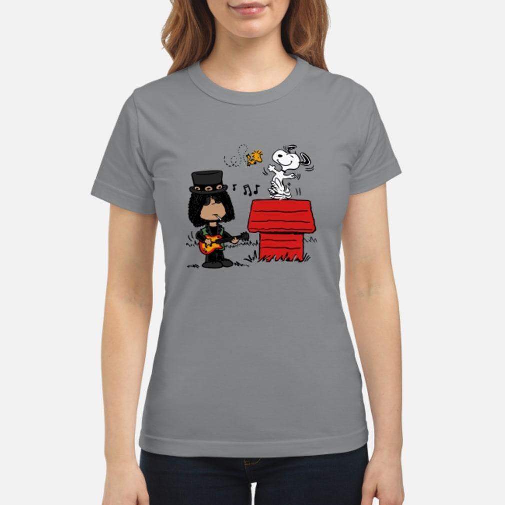 Slash and Snoopy shirt ladies tee