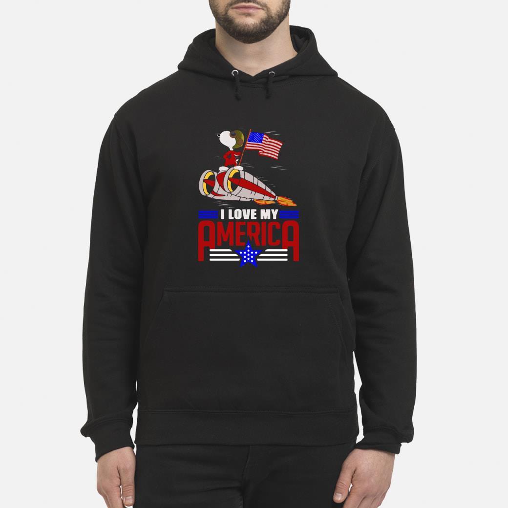 Snoopy I love my America shirt hoodie