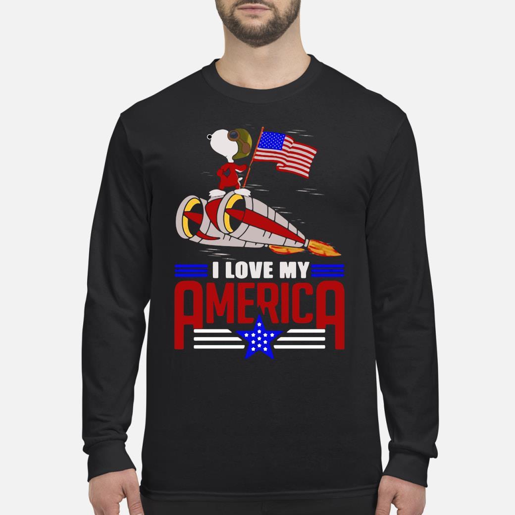 Snoopy I love my America shirt Long sleeved