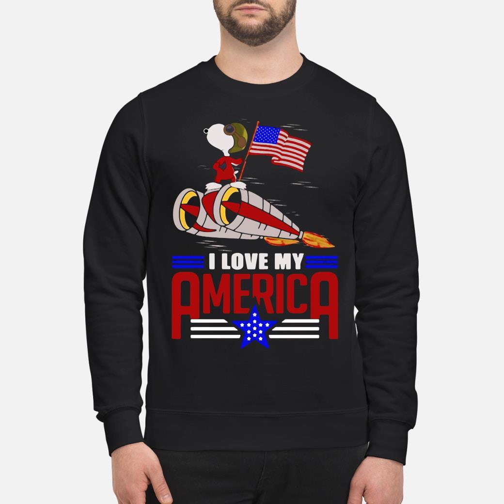 Snoopy I love my America shirt sweater
