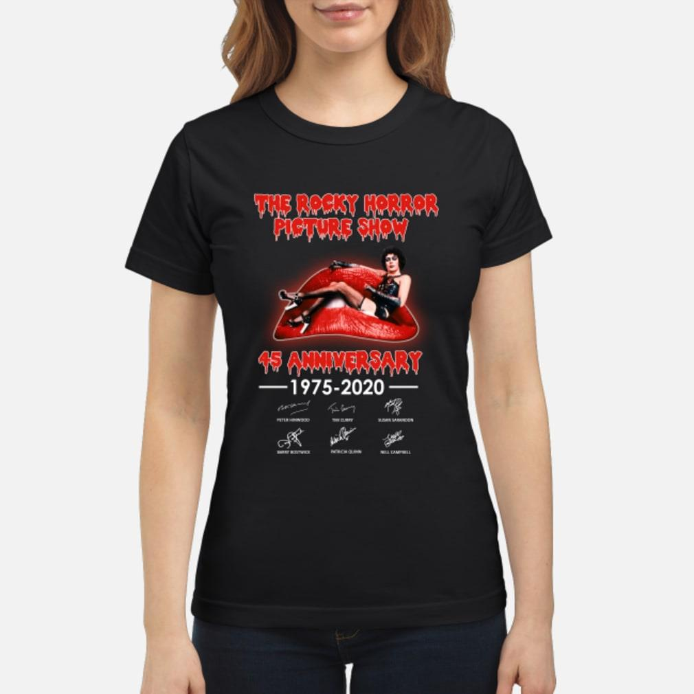 The Rocky Horror Picture Show 45th Anniversary Shirt ladies tee