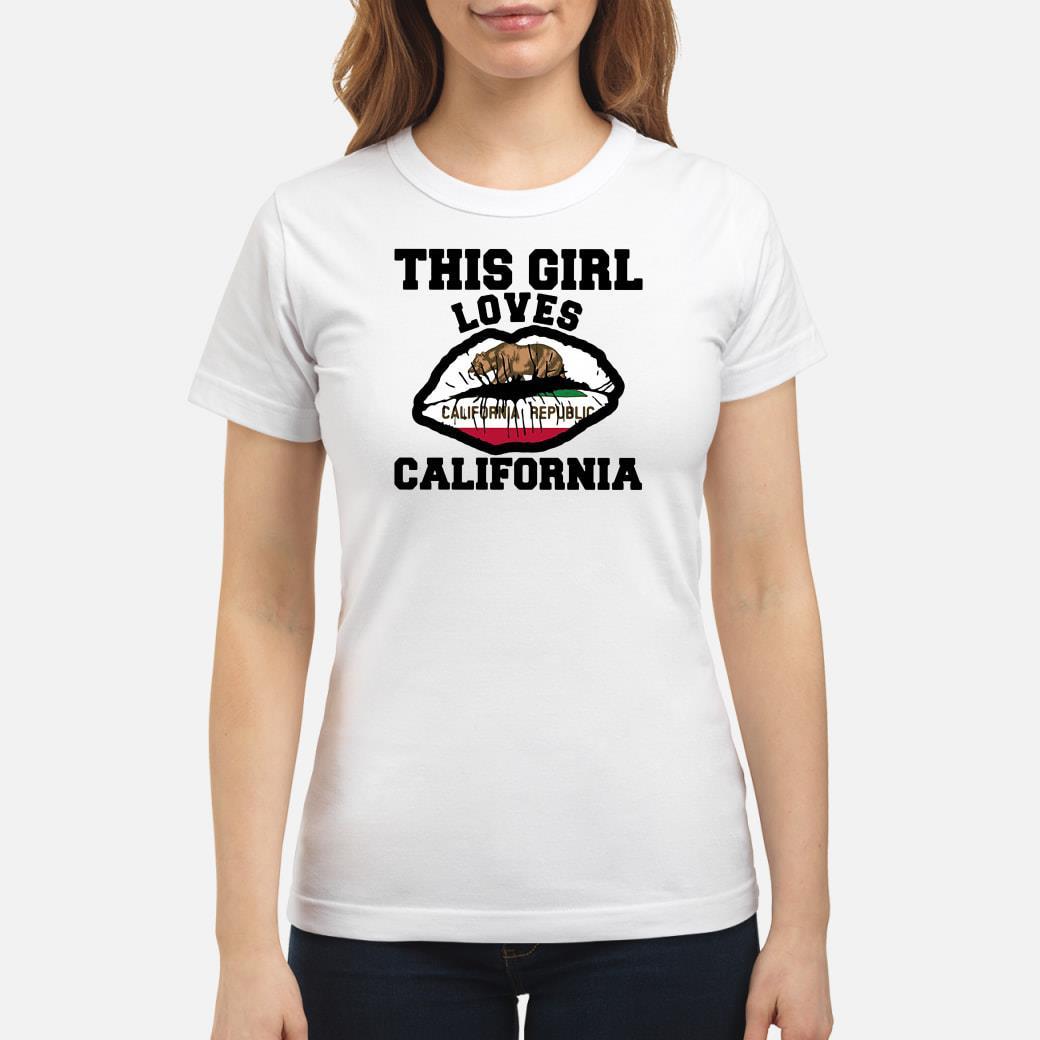This girl loves California shirt ladies tee
