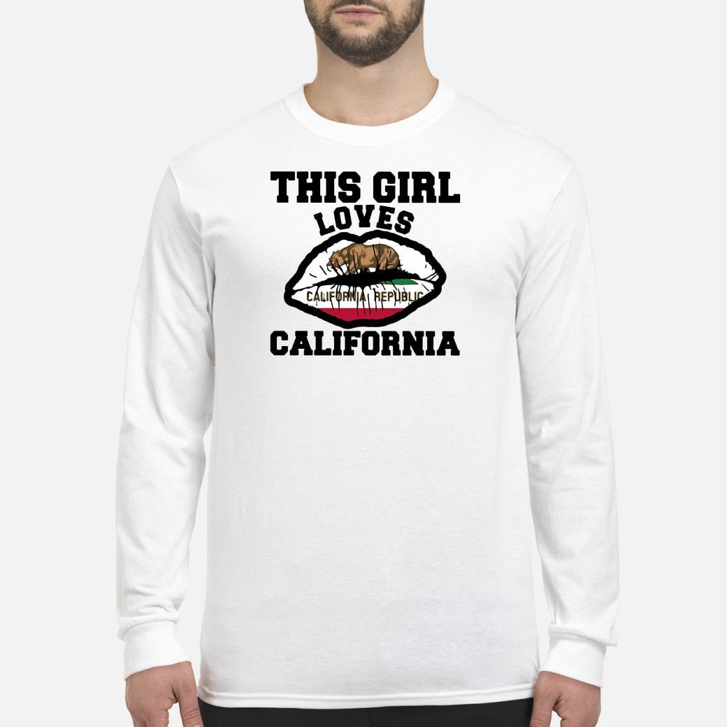 This girl loves California shirt Long sleeved