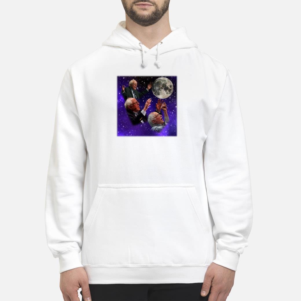Three bernie sanders moon shirt hoodie
