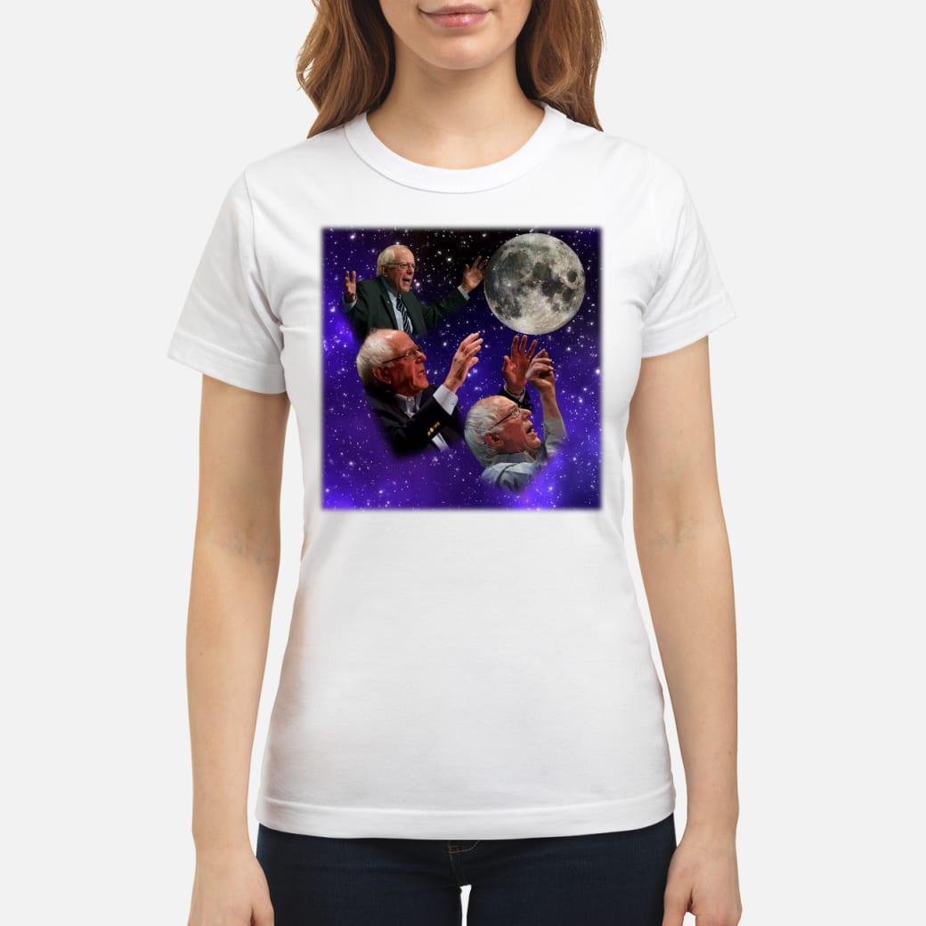 Three bernie sanders moon shirt ladies tee