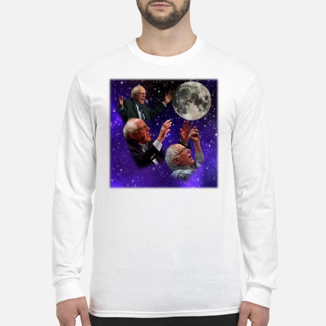 Three bernie sanders moon shirt Long sleeved