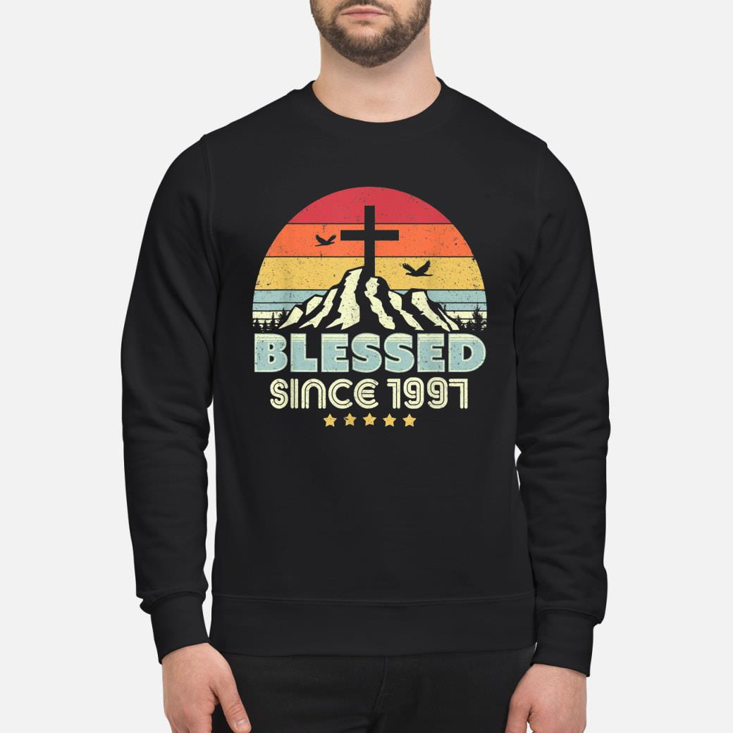 Vintage Christian Birthday Gift Blessed Since 1997 Shirt sweater