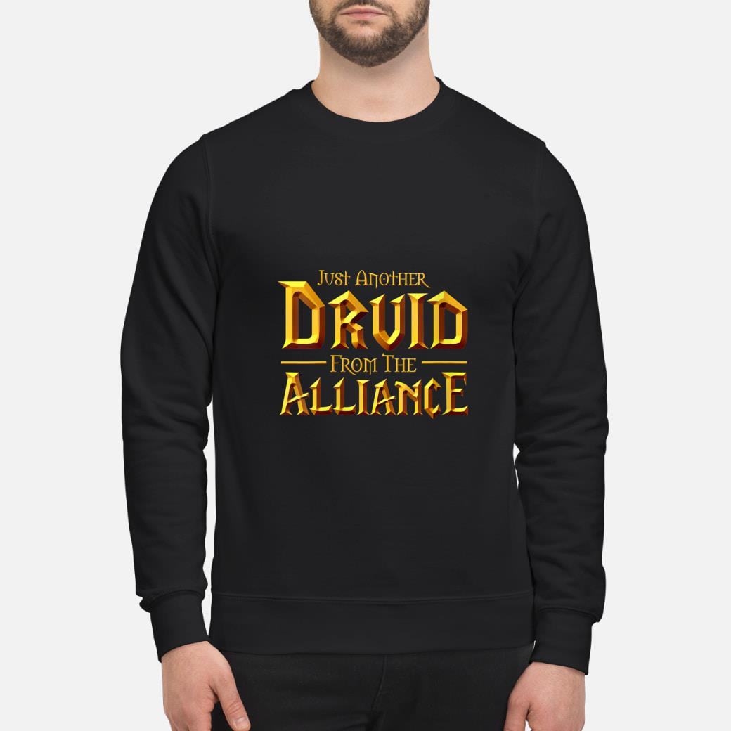 Womens WOW Just another Druid from the Alliance  T-Shirt sweater