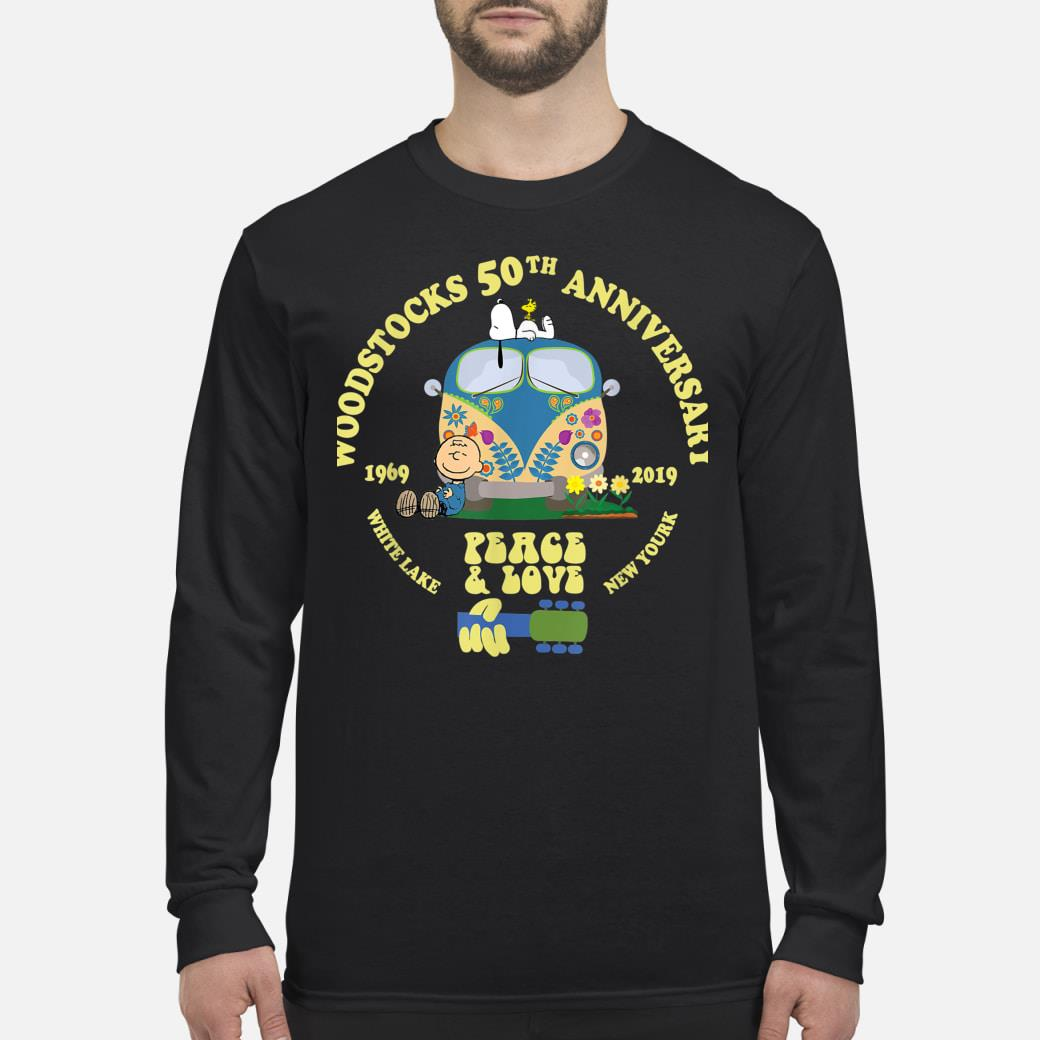 Woodstocks 50th Anniversary Peace Love shirt Long sleeved