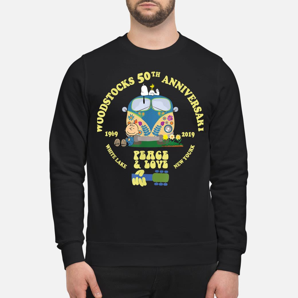 Woodstocks 50th Anniversary Peace Love shirt sweater