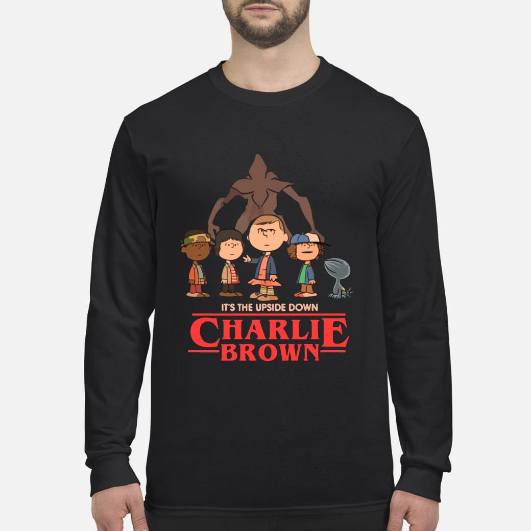 It's The Upside Down Charlie Brown Stranger Things Shirt Long sleeved
