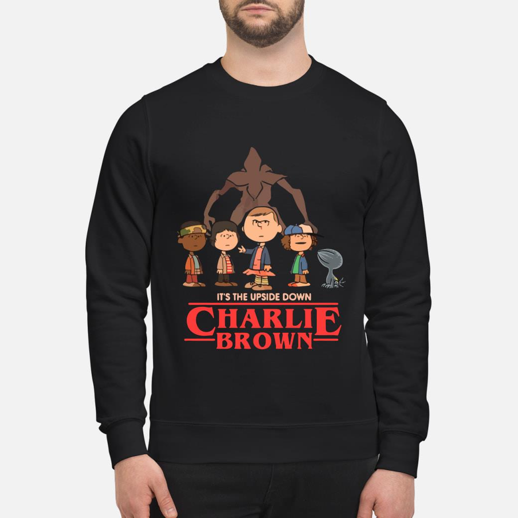 It's The Upside Down Charlie Brown Stranger Things Shirt sweater