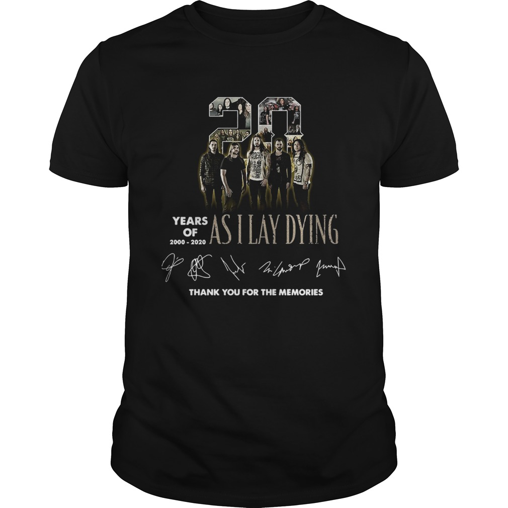 20 Years of As I Lay Dying Thank you For The Memories  Unisex