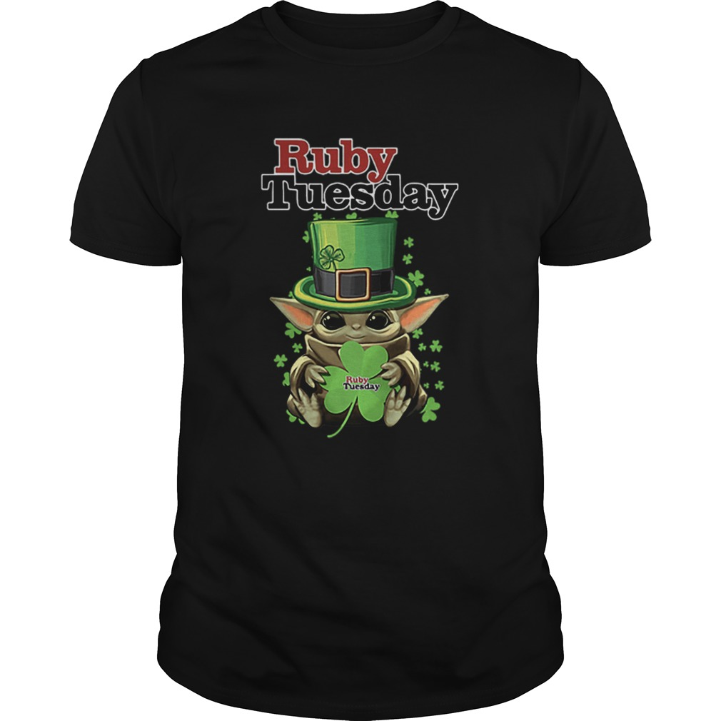 Baby Yoda Ruby Tuesday Shamrock St Patricks Day  Unisex