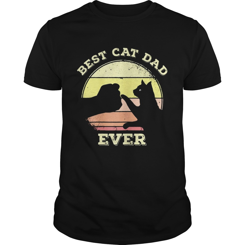 Best Cat Dad Ever Funny Cat Lover  L Unisex