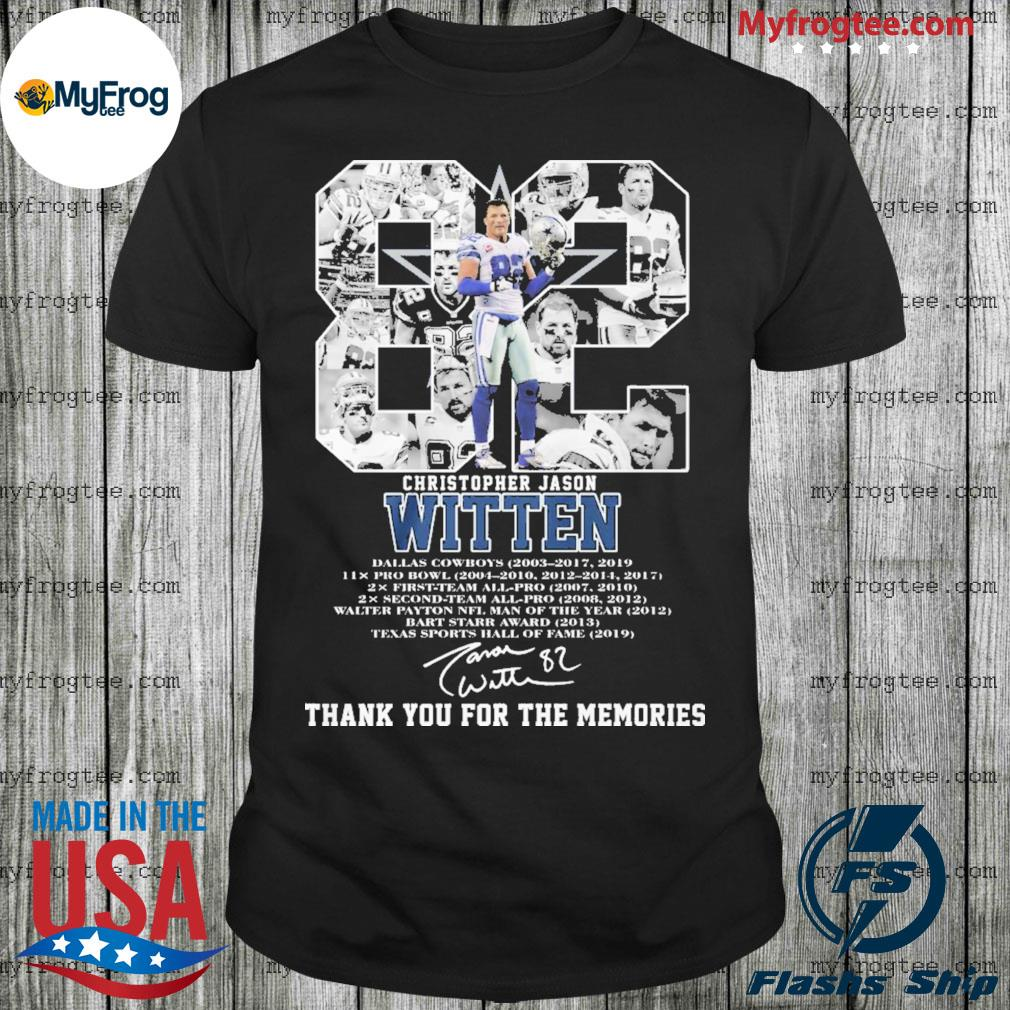 82 Christopher Jason Witten thank you for the memories shirt