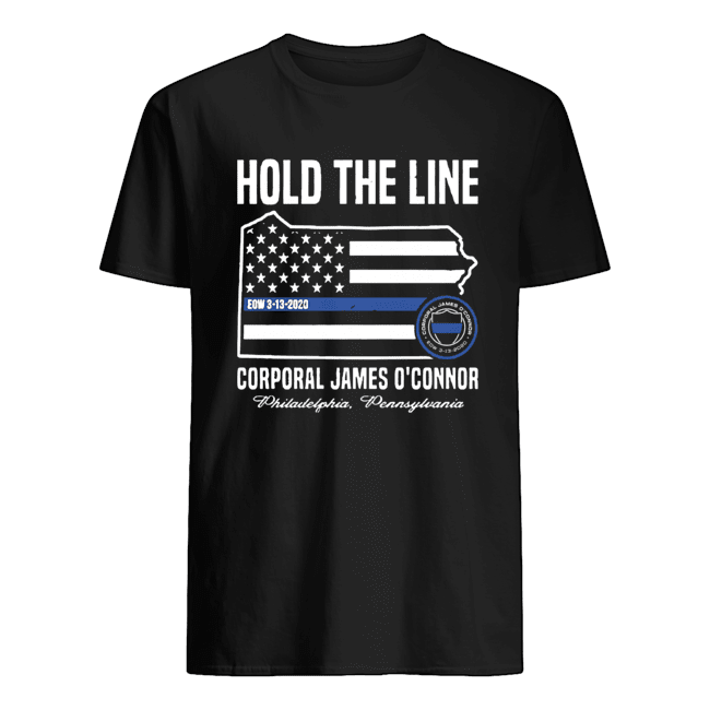 America Flag Hold The Line Corporal James O'connor  Classic Men's T-shirt