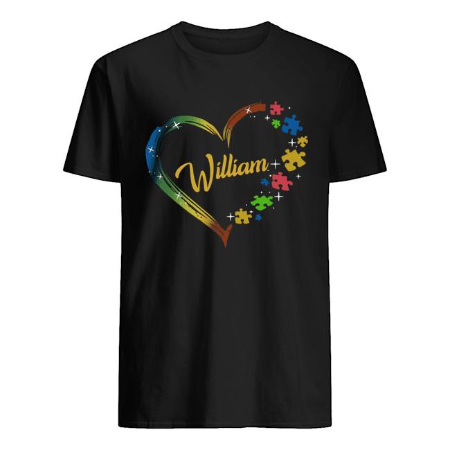 Autism Puzzle Heart Personalized  Classic Men's T-shirt