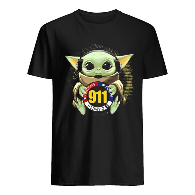 Baby yoda dispatch police 911  Classic Men's T-shirt