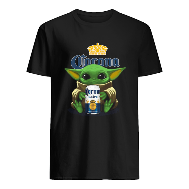 Baby Yoda Hug Corona Extra  Classic Men's T-shirt