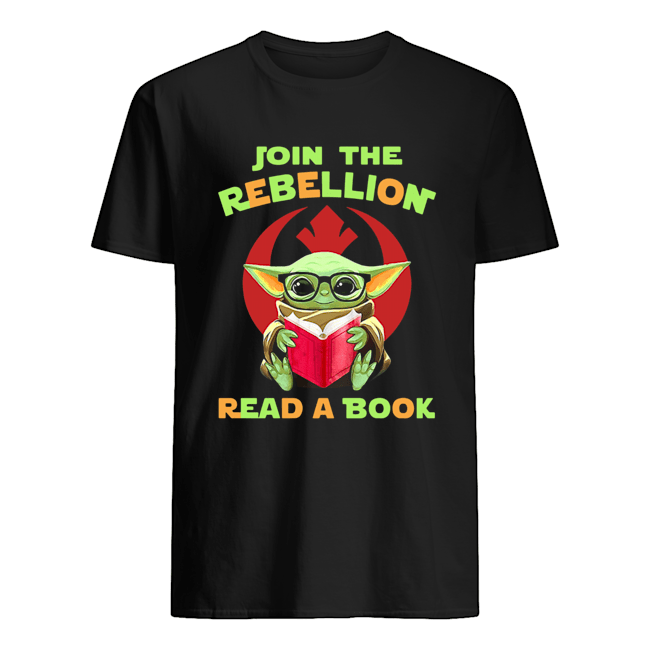 Baby Yoda Join The Rebellion Read A Book  Classic Men's T-shirt