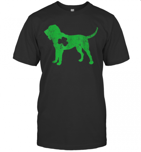 Bloodhound Irish Clover St Patrick Day Leprechaun Dog T-Shirt Classic Men's T-shirt