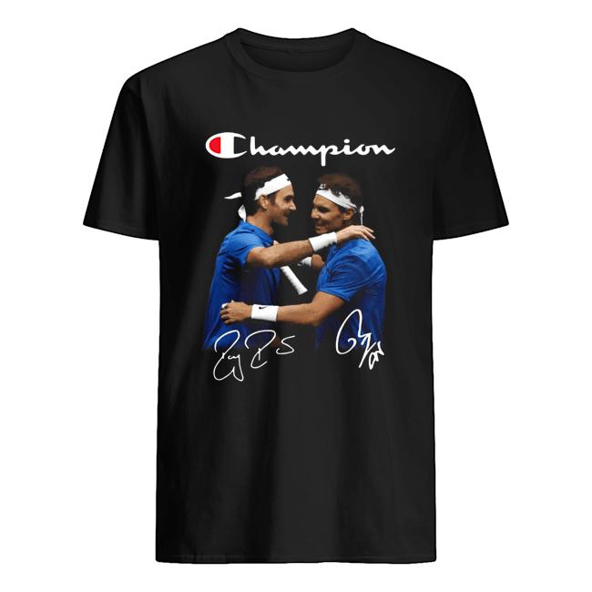 Champions Roger Federer And Rafael Nadal  Classic Men's T-shirt