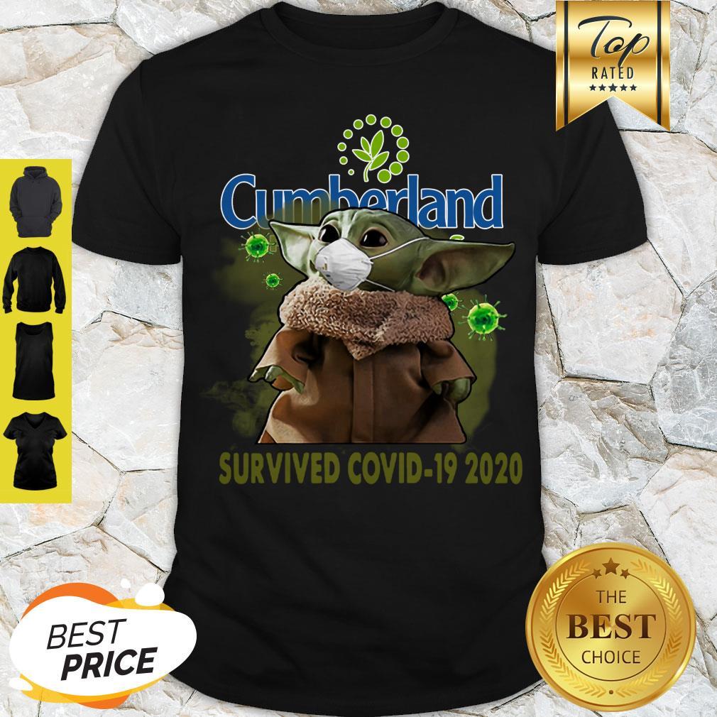 Cute Baby Yoda Cumberland Farms Survived Covid-19 2020 Shirt