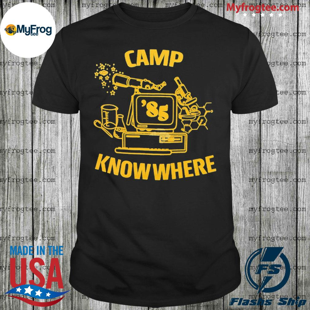 Dustin stranger things camp know where shirt