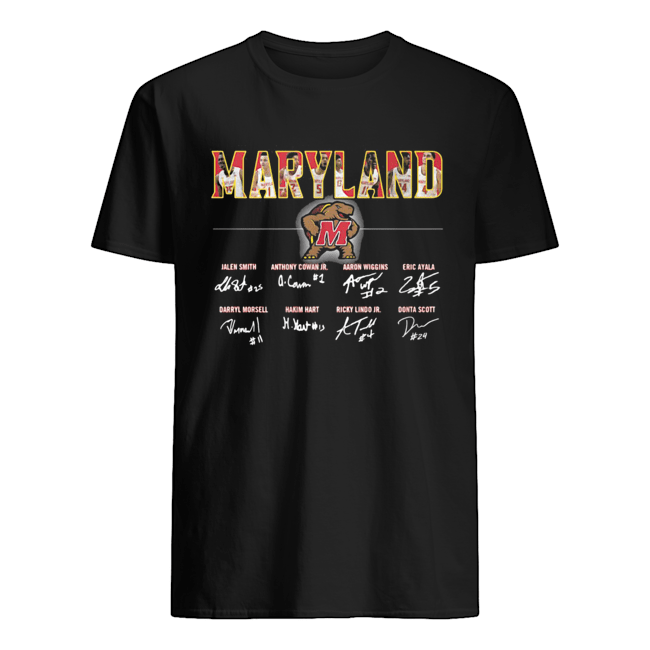 Fathead Maryland Terrapins Football Player Signatures  Classic Men's T-shirt