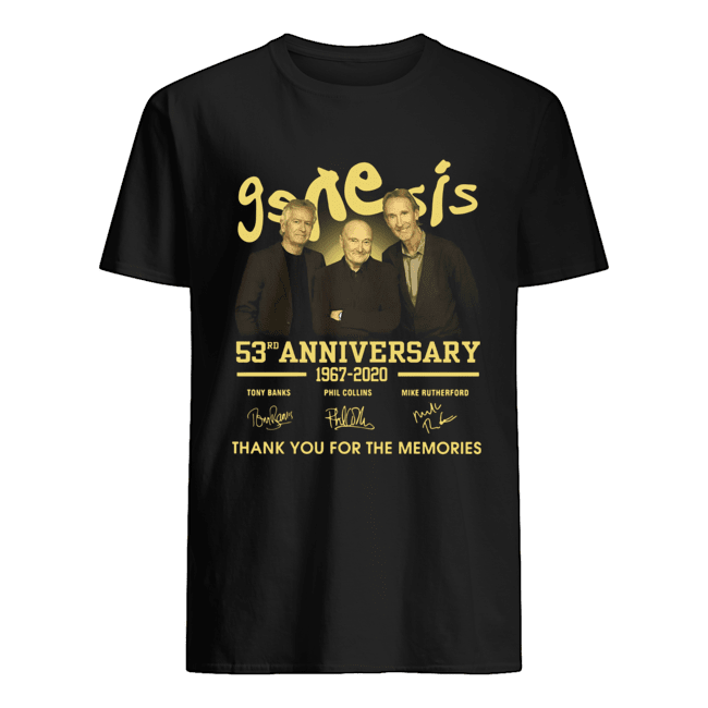 Genesis 53rd Anniversary 1967 2020 Thank You For The Memories Signatures  Classic Men's T-shirt