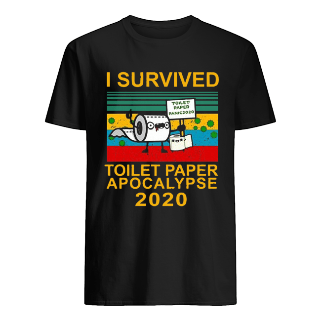 I Survived Toilet Paper Apocalypse Vitage  Classic Men's T-shirt